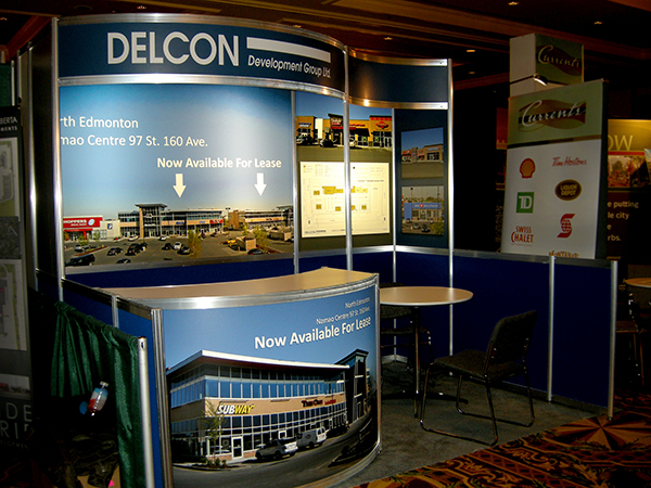 Trade Show Booth Edmonton : Booths square feet or less