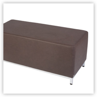 Optimum Contemporary Black Leather Bench