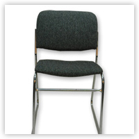 grey padded chair